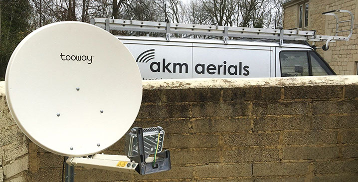 satellite broadband Kemble